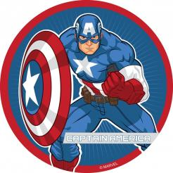 Captain America edible image cupcakes decals