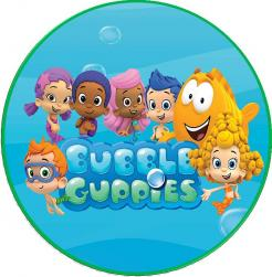 Bubble Guppies edible cake topper sticker