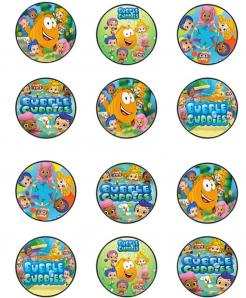Bubble Guppies cupcake toppers edible cake stickers