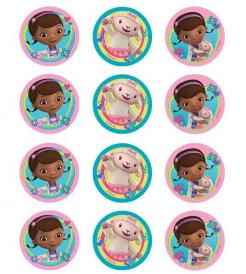 Doc Mcstuffin cupcake and cookie toppers
