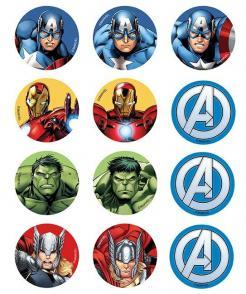 Avengers edible image cupcakes decals