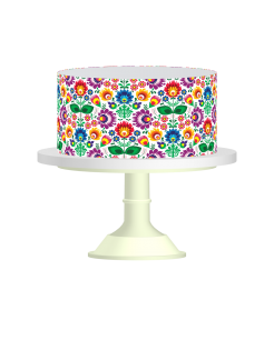 Edible Cake Wraps edible image cake sticker colorful flowers