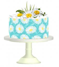 cake wraps edible sugar sheet prints cake toppers flowers daisies