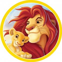 Lion King cake topper edible image cake sticker icing image