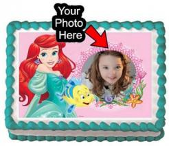 Ariel Little Mermaid cake topper edible image cake sticker