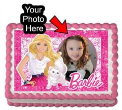 BArbie edible cake print cake topper edible image cake sticker
