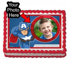 Captain America edibl eimage cake print sugar sheet cake topper