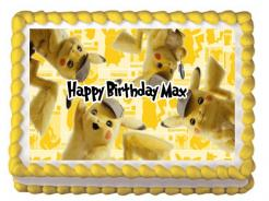 Detective Pikachu cake topper edible image cupcakes decals