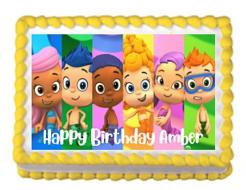 Bubble Guppies edible image. Bubble Guppies,  cake print