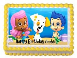 Bubble Guppies cake topper, Bubble Guppies edible cake print