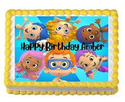 Bubble Guppies edible cake topper. Bubble Guppies edible cake print