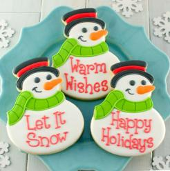 Snowman Royal Icing Sugar Cookies