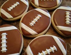 Football Cookies Royal Icing Sugar Cookies