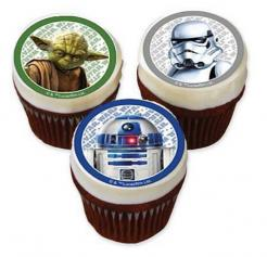 Star Wars  cupcake toppers edible image cake topper sugar sheet cake decal