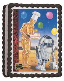 Star Wars edible image cake topper sugar sheet cake decal