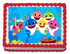 Baby Sharks edible cake print edible image sugar sheet