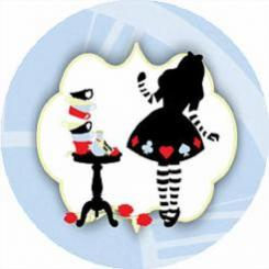 Alice in Wonderland cake stickers edible image cake decals
