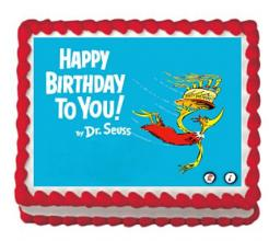 Dr. Seuss cake topper edible image cupcake topper, Dr. Seuss sugar sheet