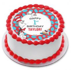 Dr. Seuss cake topper edible image sugar sheet