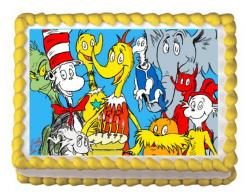 Dr. Seuss edible cupcake toppers edible image cake decals
