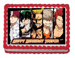 My Hero Academia Edible cake topper edible image