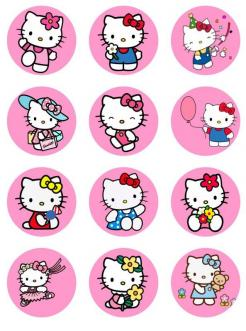 Hello Kitty edible cake topper edible image cake sticker