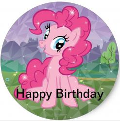 My Little Pony cake stickers edible image cake decals