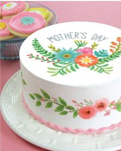 Mother's Day cake topper edible image cake sticker