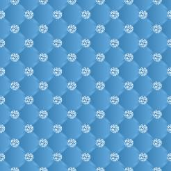 Blue Diamonds cake sticker edible image sugar sheet