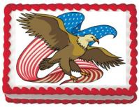 american eagle cake sticker