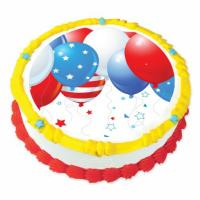 july 4th cake sticker