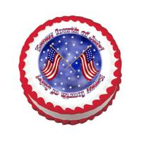 american flag cake sticker