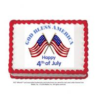 god bless america cake sticker