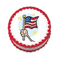 wave the flag cake sticker