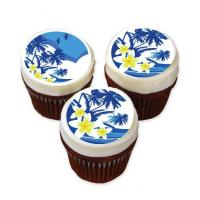 Hawaiian cake stickers