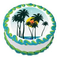 palm tree cake sticker