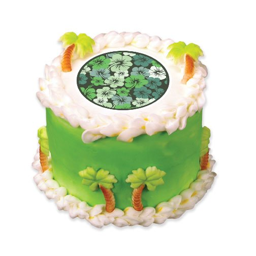 Edible images photo cakes cake stickers summer time cake for Edible hawaiian fish