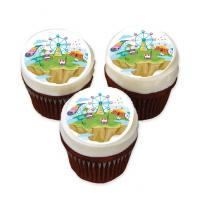 carnival cake stickers