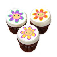 flower face cake stickers