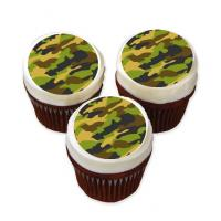camouflage cake stickers
