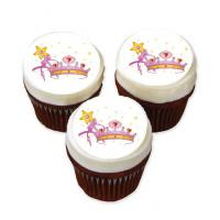 crown cake stickers