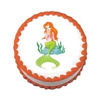 areilla mermaid cake stickers