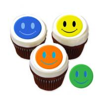 happy face cake stickers