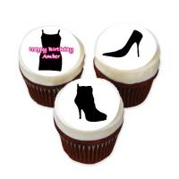 fashion cup cake stickers