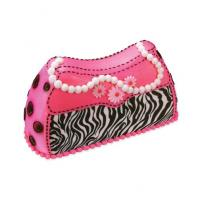 zebra print cake sticker purse