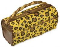 leopard print cake sticker purse