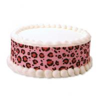 pink animal print cake sticker