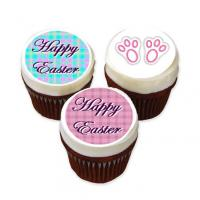 Easter cupcake ideas with cake stickers