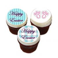 Easter cupcCake ideas with cake stickers