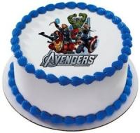 Avengers edible image cake sticker
